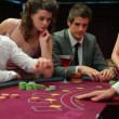 Man is happy with the cards he is dealt — Stock Video