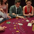 Playing poker — Stock Video
