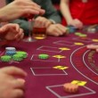 Cards being dealt at poker game — Vídeo de stock #21352817