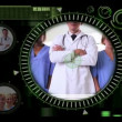 Stock Video: Hand selecting clips of various medical teams on interactive menu