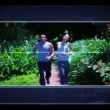 interfaccia menu di jogging scheletro mostrando clip di peopleat palestra — Video Stock