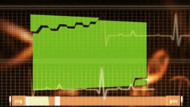 Heart ECG with copy space — Stock Video