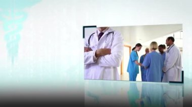 Montaggio di equipe mediche — Video Stock