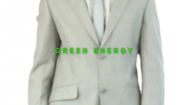 Businessman pressing energy button — 图库视频影像