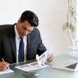 Businessman working on documents — Stock Video
