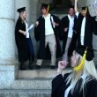 Graduates celebrating their graduation — Stock Video