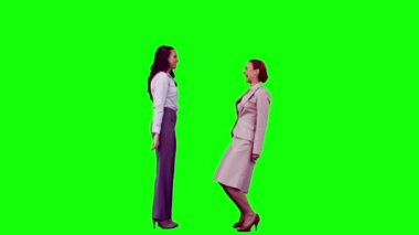 Women in slow motion laughing — Vídeo de stock