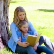 Stock Video: Womreading novel with her daughter