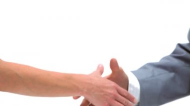 Close-up of a handshake — Stock Video