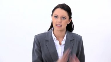 An angry businesswoman — Stock Video
