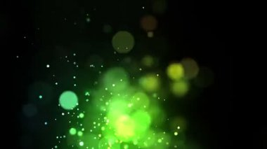 Bright green points coming up — Stock Video