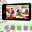 School life on a smartphone screen - Stock Photo