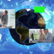 Corporate business cooperation with an Earth image courtesy of Nasa.org — Stock Video