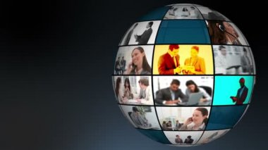 Globe of company's daily life videos — Stok video