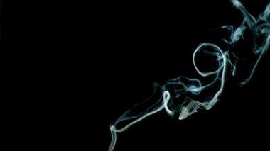 Cigarette vapor in super slow motion — Stock Video