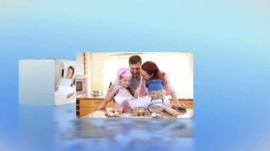 Aile günlük yaşam — Stok video