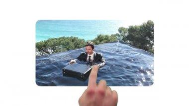 Fun videos of businessman relaxing — Stock Video