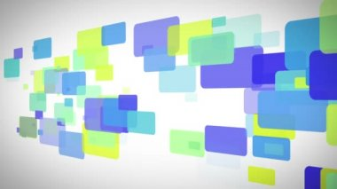 Blue green and yellow rectangles moving — Stock Video