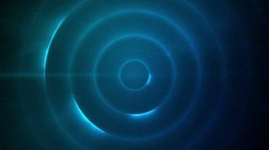 Mavi ışıklar yanıp sönen hareketli daire — Stok video
