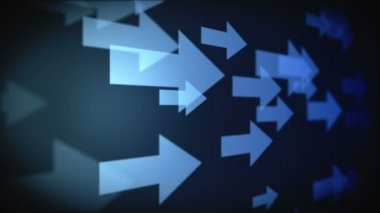 Video of multiple blue arrows — Stock Video