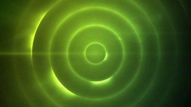 Cirkels van knipperende blauwe lichten verplaatsen — Stockvideo