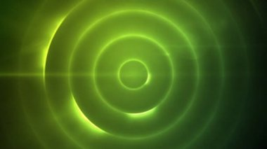 Movendo-se círculos de luz azul a piscar — Vídeo Stock