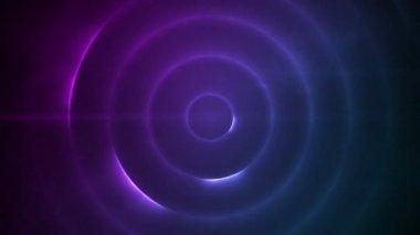 Bewegende cirkel van paarse lampjes knipperen — Stockvideo