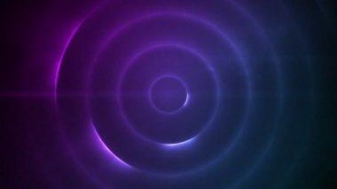 Mor ışıklar yanıp sönen hareketli daire — Stok video