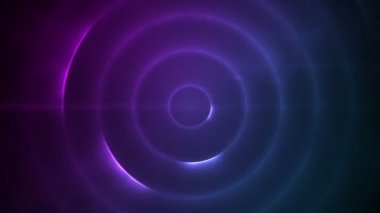 Moving circle of flashing purple lights — Vídeo Stock