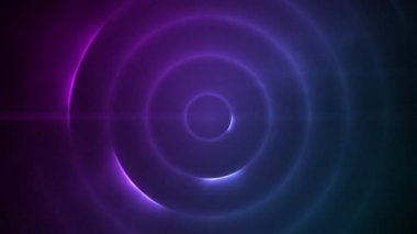 Moving circle of flashing purple lights — Video Stock