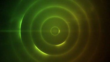 Cirkels van knipperende veelkleurige lichten verplaatsen — Stockvideo