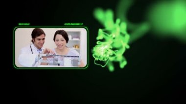 Medical videos with a green light — Stock Video