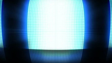 Blue disco lights — Vídeo Stock