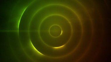 Déplacement des cercles de clignotants jaunes et vertes — Vidéo
