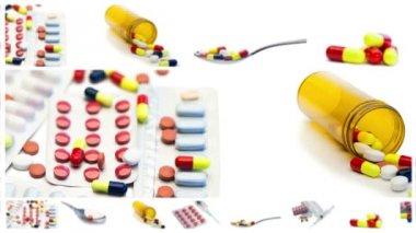 Pillole e siringhe — Video Stock