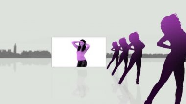 Videos of a woman dancing — Stock Video