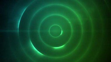 Círculo em movimento de luzes azuis e verdes — Vídeo Stock