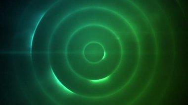 Movimiento círculo de luces azules y verdes — Vídeo de stock
