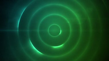 Moving circle of flashing blue and green lights — Vídeo Stock