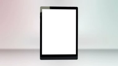 Animation of a tablet computer with a blank screen