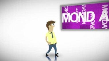 Videos of weekdays — Stock Video