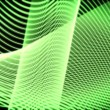 Stock Video: Volute of moving green lines