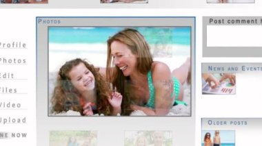 Family sharing their videos on the internet — Vídeo de stock