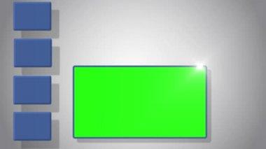 Vidéo de l'écran vert avec symbole de médias sociaux — Vidéo