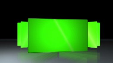 Succession of chroma key — Stock Video