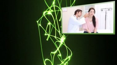 Medical videos with light beams — Stock Video