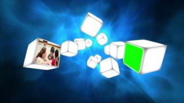 Video scuola su cubi — Video Stock