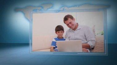 家庭与地球图片提供: nasa.org 找一台笔记本电脑的视频 — 图库视频影像