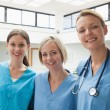 Stock Photo: Three happy nurses