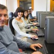 Smiling computer class — Stock Photo